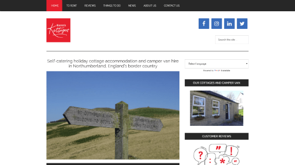 Northumberland Holiday Cottage Let